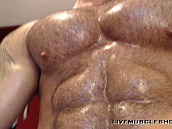 hairy muscle and oil