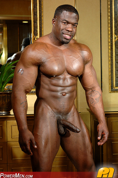 Black bodybuilders big muscle